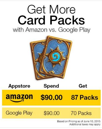 use bitcoins to get 20 percent off of hearthstone decks through amazon